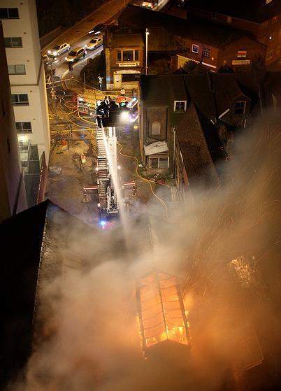 laboratoire en feu