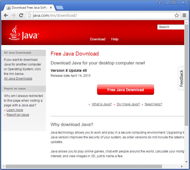 Télécharger Java sur java.com.