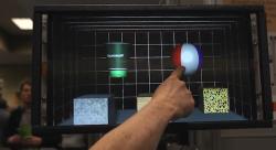 L'écran tactile de Microsoft permet de sentir les objets losqu'on passe le doigt à leur surface.