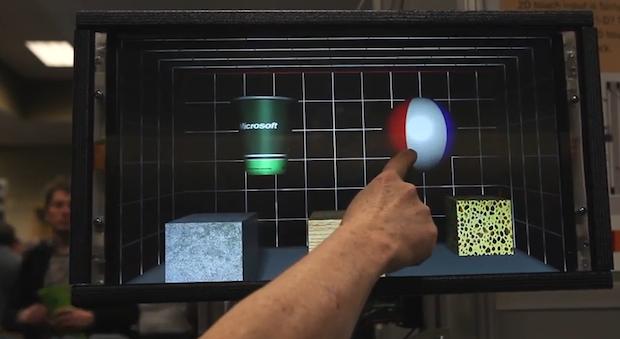 microsoft un cran tactile qui permet de palper les objets shy robotics. Black Bedroom Furniture Sets. Home Design Ideas