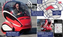 Cette voiture étrange sera un taxi autonome anglais.