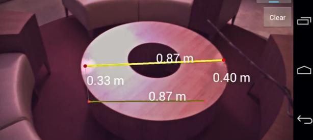 Tango aide à prendre des mesures grâce à sa considération de l'espace en trois dimensions.