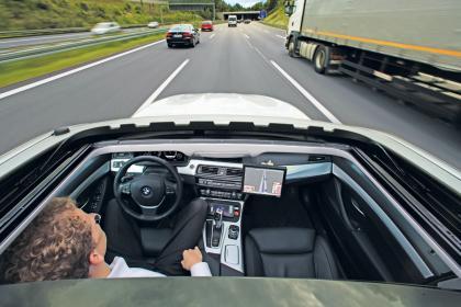 La voiture autonome de BMW est à la pointe aujourd'hui.