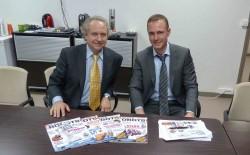 Rodney Brooks et David Leblanc pour l'interview organisé par Génération Robots à Paris.